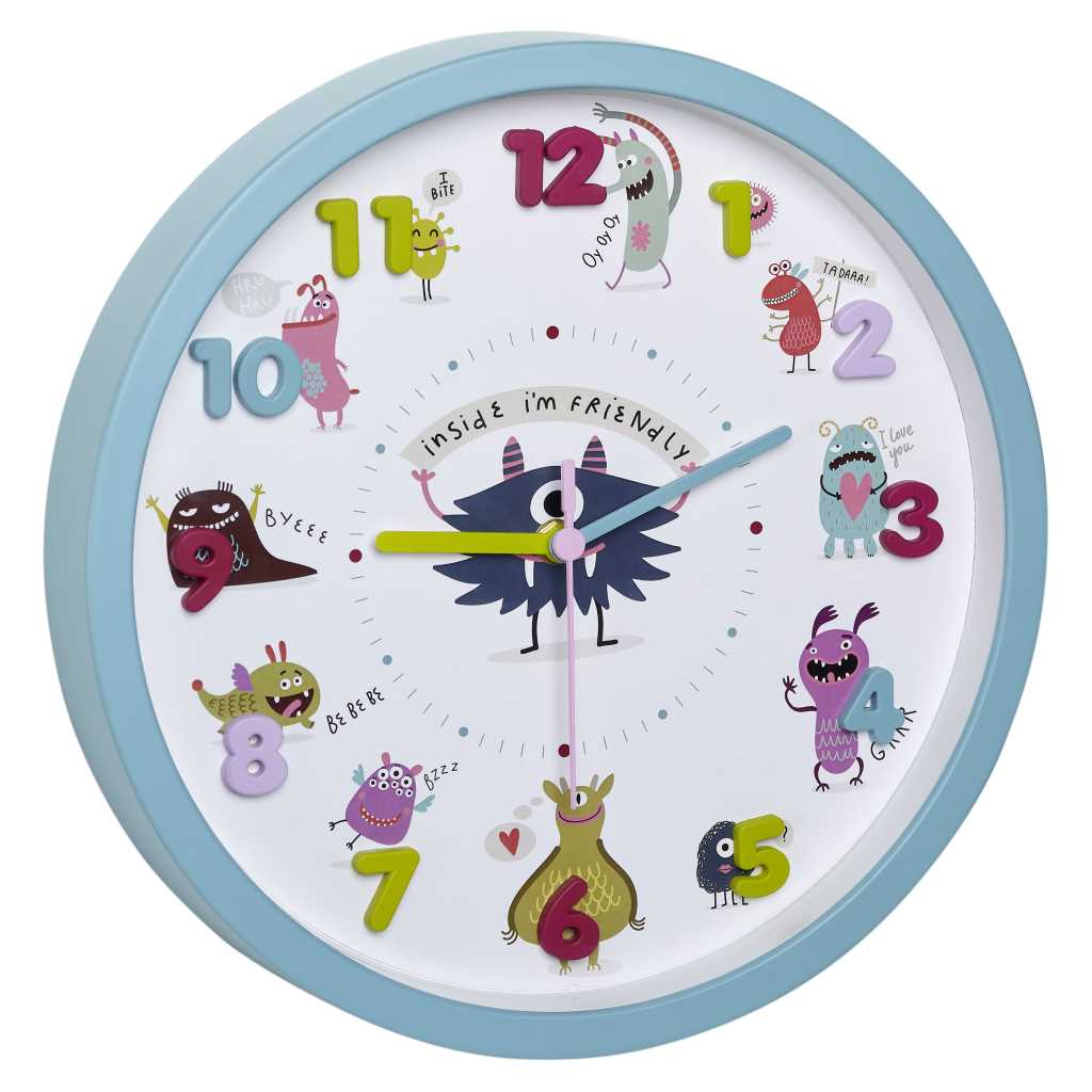 Bild von Little Monsters Kinder-Wanduhr 60.3051.20