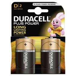 Bild von Duracell Plus Power MN1300 Mono  2er Blister
