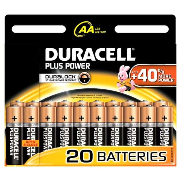 Bild von Duracell Plus Power MN1500 Mignon  20er-Blister
